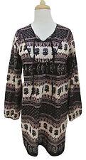 L'HABILLEUR Kurta tunic top dress M boho printed swim beach coverup