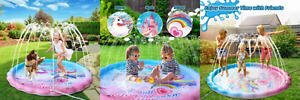 "iBaseToy 68"" Unicorn Splash Pad - Sprinkler for Kids Toddlers Outdoor Summer..."