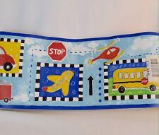Kids World Vehicle Border Wall Paper Border 15'