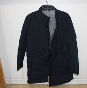 Muji Water Repellent Stand Fall Collar Coat Navy Size Large  Men