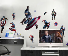 Avengers Captain American Kids Wall Stickers Boys Room Nursery Decal Home Decor