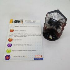 Heroclix Web of Spider-Man set Spider-Man (Black) #022 Uncommon figure w/card!