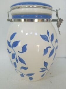 Inspirado Stonelite Seattle USA Cookie Jar/Canister Blue & white