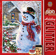 HOLIDAY GLITTER JIGSAW PUZZLE LET IT SNOW DONA GELSINGER 500 PCS CHRISTMAS 31437