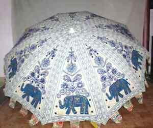 """Garden White Multi Color Umbrella Big Size Sun Protection Shade Parasol Home 72"""""""