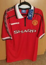 Class Manchester Retro Home Shirt MEDIUM 1998 99 Soccer Man United FAST  DELIVER 8c809eaf4