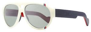 Moncler Pilot Sunglasses ML0095 21C White/Blue/Red 57mm 0095
