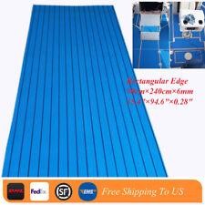 "EVA Teak Decking Sheet For Boat Yacht Self Adhesive Flooring Mat 95""×35"" Blue"