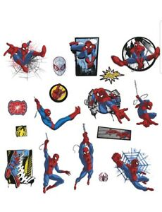 ULTIMATE SPIDER-MAN WALL DECALS 17 Classic Comic Spiderman Stickers Marvel Decor
