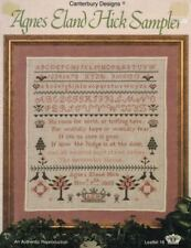 Agnes Eland Hick Sampler Authentic Reproduction Chart Leaflet 18 Canterbury 1988