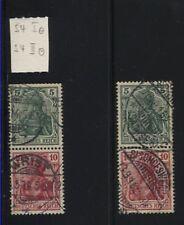 Zusammendrucke S 4 I und S 4 II gestempelt (B05102)