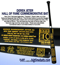 NEW YORK YANKEES DEREK JETER  LOUISVILLE SLUGGER HALL OF FAME BAT JUST RELEASED