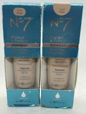2X No7 PROTECT & PERFECT All In One Foundation SPF50 COOL BEIGE Exp 2/22-7/21