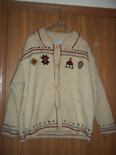 Indigenous Designs Womens Sweater Hand Knit Organic Wool XL