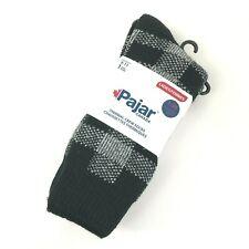 New Pajar Socks women size 9-11 Thermal Crew Black White Plaid 1.20 CLO Rating
