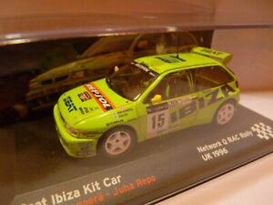 RES2E voiture 1/43 IXO altaya SEAT de Rallye : IBIZA KIT CAR 1996 RAC Rovanperä