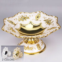"""Pearl 14.5/""""Lx14.5/""""W Large Pearlescent Oyster Shell Glass Centerpiece Dish"""