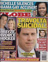 Globe Magazine John Travolta Barack And Michelle Obama Stars Without Makeup 2009