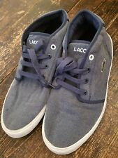06f2bf835a70cc Men s Ladies Kids Navy Lacoste Trainers Size 4 Hi Tops Plimsolls Boots