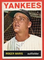 1964 Topps #225 Roger Maris VG-VGEX+ WRINKLE New York Yankees FREE SHIPPING