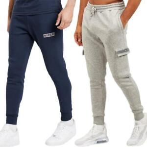 Nicce Base King Mens Fleece Slim Joggers Tracksuit Jogging Bottoms Sweat Gym New
