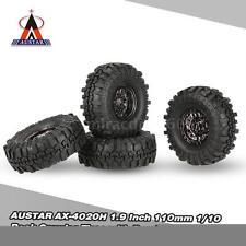 4Pcs AUSTAR AX-4020C 1/10 Rock Crawler Tires +Beadlock Wheel Rim for RC Car F4R9