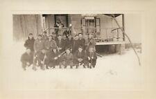 HUNTERS GROUP w/ RIFLES 1943 VINTAGE REAL PHOTO POSTCARD RPPC
