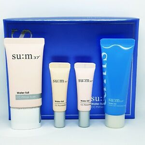 SU:M37 Water Full CC Primer Base Special Set 4 Items SPF20 PA++ K-Beauty