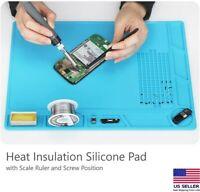 Heat Insulation Silicone Pad Soldering Cell Phone Repair Platform Mat 13.8 x 9.8