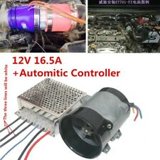 35000rpm 12V 16.5A Electric Turbine Power Turbo Charger w/Automatic Controller