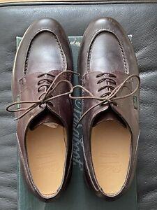 Paraboot Chambord Derby Shoes Brown Marron Lis Cafe Leather 9UK 43EU 10US
