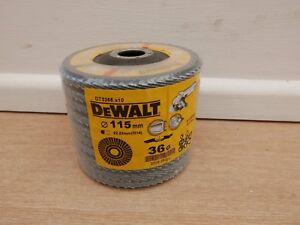 10 X DEWALT DT3255 115MM INOX ANGLE GRINDER SANDING FLAP DISCS 36GRIT