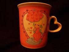 "Precious Moments Coffee Mug Cup ""LET LOVE REIGN"" Heart Shaped Handle ENESCO"