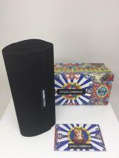 New Dolce & Gabbana Eyeglasses Case With Black Fabric Clutch Bag Case Sunglasses