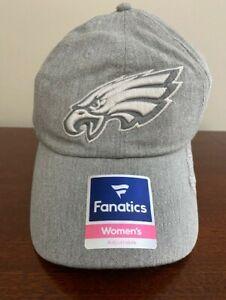 Philadelphia Eagles Fanatics Women's Gray Adjustable Embroidered Cap NEW