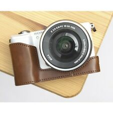 Ciesta Synthetic Leather Half Case Sony A5000 Brown