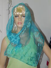 Vintage New Scarf Pale Blue with tag. Pretty. Has some staining