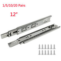 12 inch Heavy Duty Full Extension Ball Bearing Drawer Slides Side Mount 100 LBS