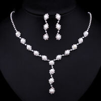 Mecresh Simulated Pearl Bridal Wedding Jewelry Sets Fashion Jewelry Set