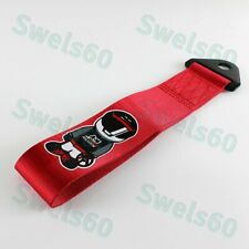 Tow Strap Front/Rear Bumper Towing Hook High Strength MUGEN for Honda Acura Red