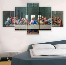 The Last Supper God Christian 5 Piece Canvas Wall Art Poster Print Home Decor