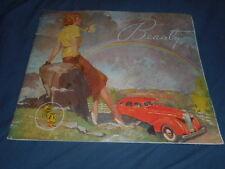 1937 Nash Ambassador Six and Eight LaFayette Color Brochure Catalog Prospekt