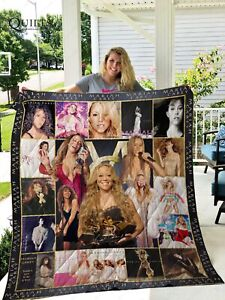 Mariah Carey Quilt Blanket Gifts For Fan Birthday Thanksgiving Christmas