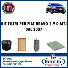 KIT 4 FILTRI TAGLIANDO PER FIAT BRAVO 1.9 D MTJ 88KW 120CV DAL 04/2007 192A8000