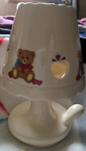 Vintage Giftco 1988 teddy bear lamp candle holder. Great for baby's room.