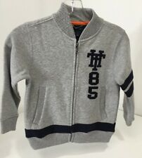TOMMY HILFIGER BOYS FULL ZIP JACKET SIZE 4 ASH W/NAVY...