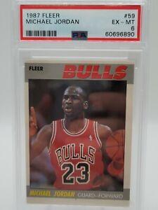 MICHAEL JORDAN 1987-88 FLEER (2nd Year) #59 PSA 6 Ex Mint -New PSA Shield inside
