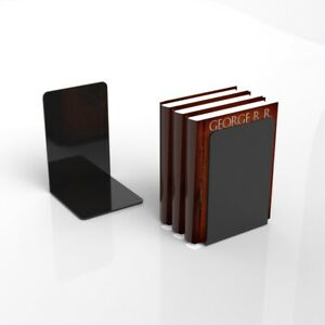 Gloss Black Acrylic Bookends / Bookends Organiser Stand / Office / School / Book
