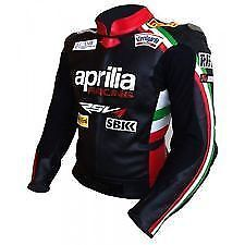 Aprilia Leather Motorbike Racing Biker Jacket Sports CE Motorcycle - ALL SIZES