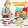 Wooden Puzzle Facial Features Match Toy Early Educational Set Toy For Kids